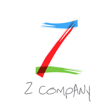 Vector initial letter Z scrawled text