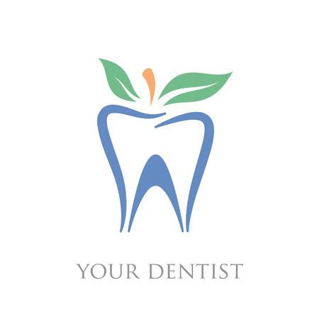 homeopathic: Vector sign natural toothpaste dental care homeopathic