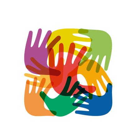 mani incrociate: Mani Vector segno teamwork incrociate