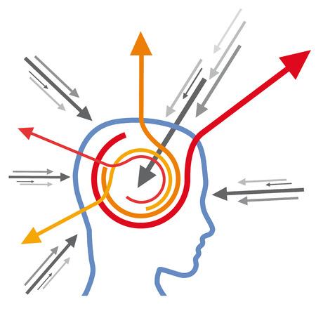 Concept stimulate the mind Illustration
