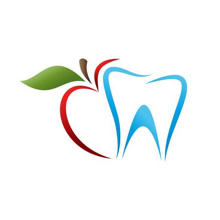 robust: Vector sign dentist. Bite the apple Illustration