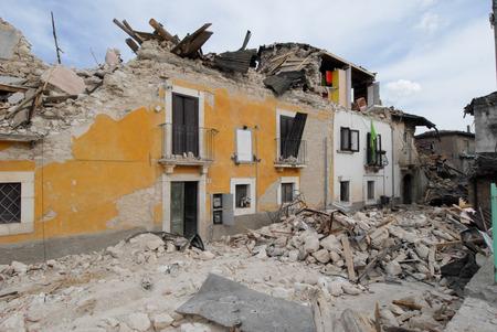 Ciudad destruida por un terremoto