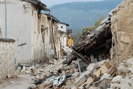 earthquake: City destroyed by an earthquake