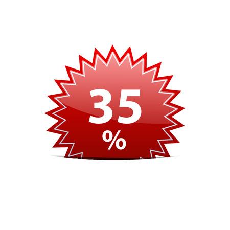 35: Vector de descuento firmar 35 Vectores