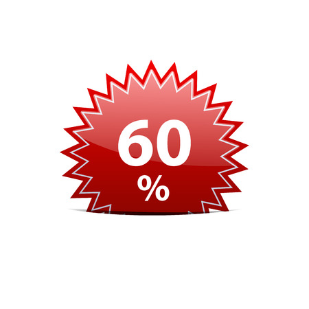 60: Vector sign discount 60 Illustration