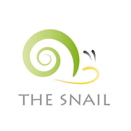 drooling: Vector sign abstract snail Illustration