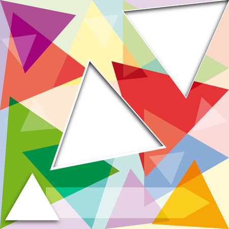 triad: Vector abstract background with triangles