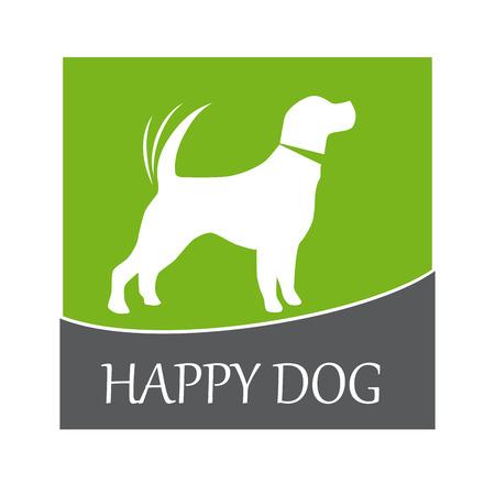 Vector sign happy dog