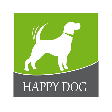 wag: Vector sign happy dog