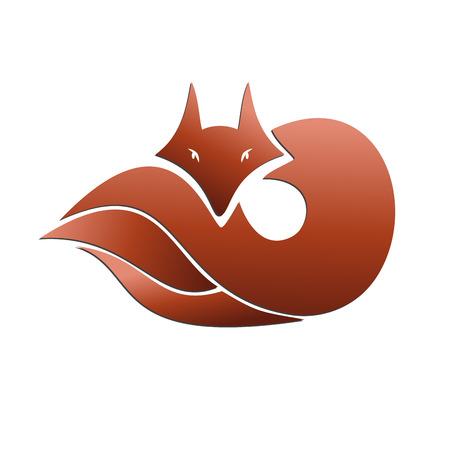 fox fur: Vector sign abstract fox Illustration