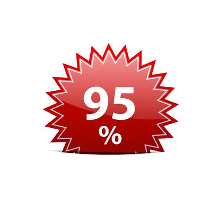 95: Vector sign discount 95