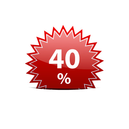 40: Vector sign discount 40 Illustration