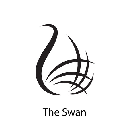 Vector sign stylized swan