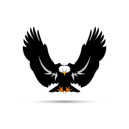 Vector sign black eagle