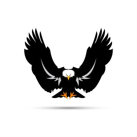 rapacious: Vector sign black eagle