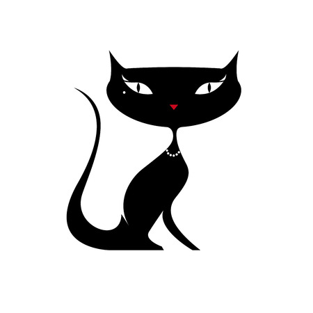 malice: Vector sign beautiful cat