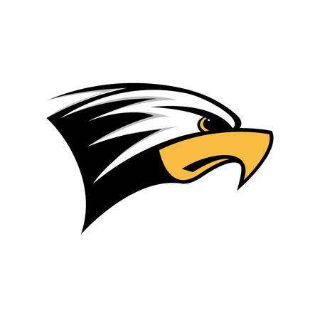 rapacious: Vector sign head of eagle