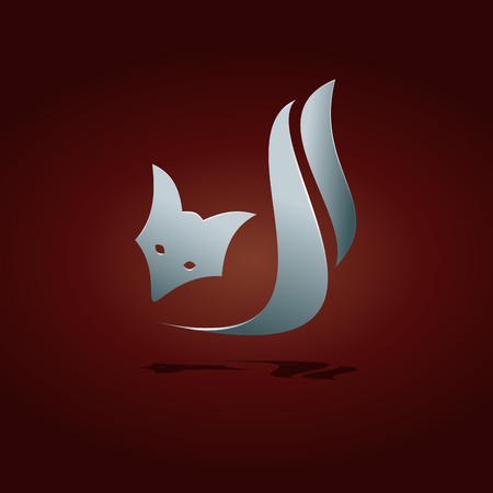 readiness: Vector sign abstract stylized fox Illustration