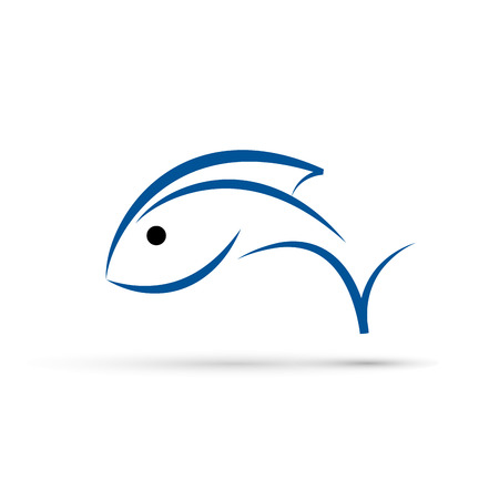 Vector sign abstract Fish