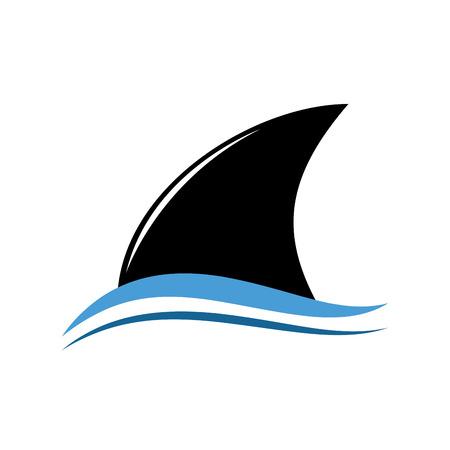 shark: Vector sign abstract stylized shark Illustration