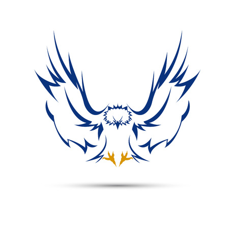 Vector sign blue eagle Illustration