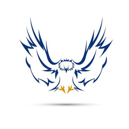 Vector firmar águila azul