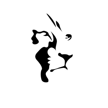 lion king: Vector sign black lion