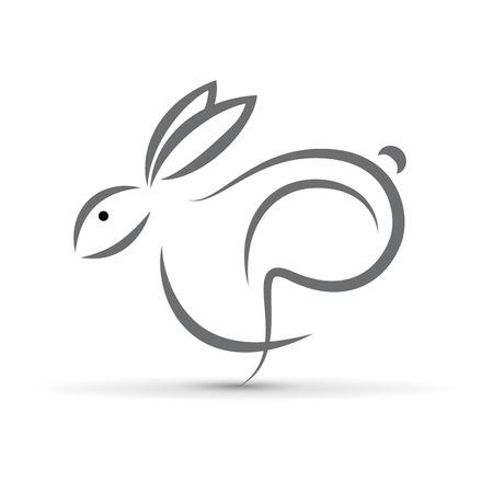 ベクトル記号抽象的なウサギ