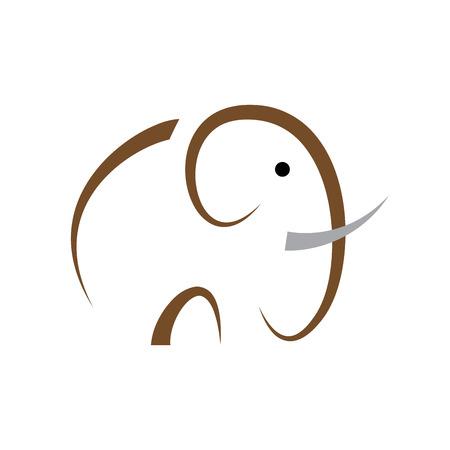 elefant: Einfache Vektor-Zeichen Elefanten Illustration