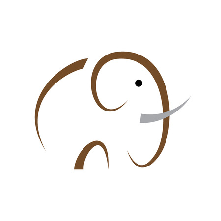 elefant: Sencillo vector signo elefante