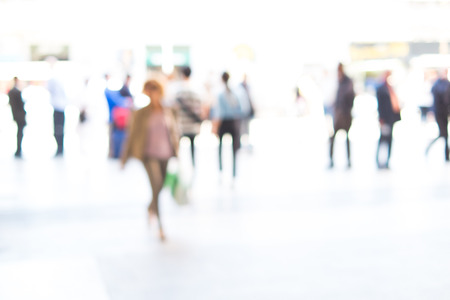 shopping scenes: People background intentionally blurred