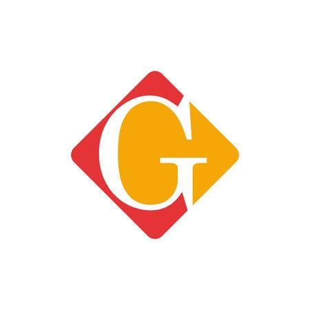 letter g: Vector color sign initial letter G