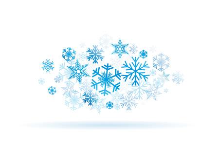 Vector de fondo de invierno Foto de archivo - 42013476