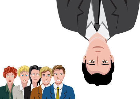 cabeza abajo: Trabajo en equipo con el hombre al rev�s