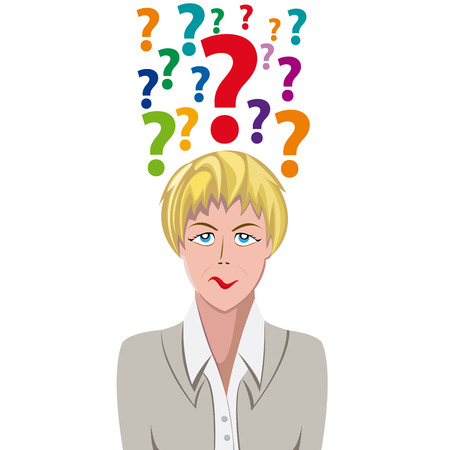 assumptions: Vector Human Doubt, question mark in the head