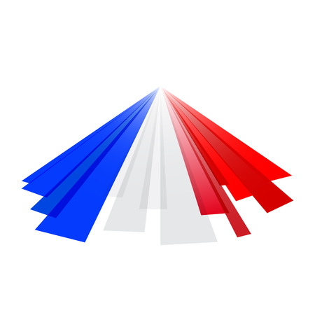 french flag: French abstract flag