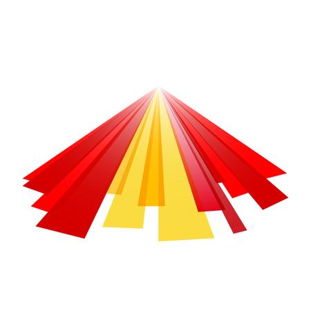 spanish flag: Spanish abstract flag Illustration