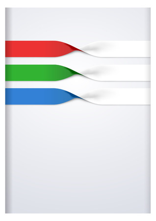 foldable: Vector faq labels, three option