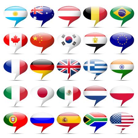 Flags icons that speak 写真素材