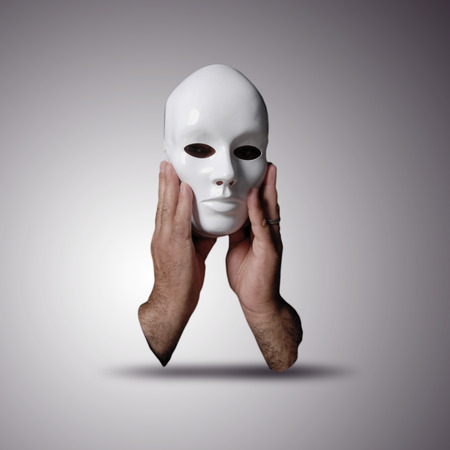 unclear: Anonymous mask Stock Photo