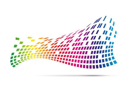 internet background: Digital Abstract Vector Background Illustration