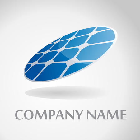 Vector sign round solar panel Illustration