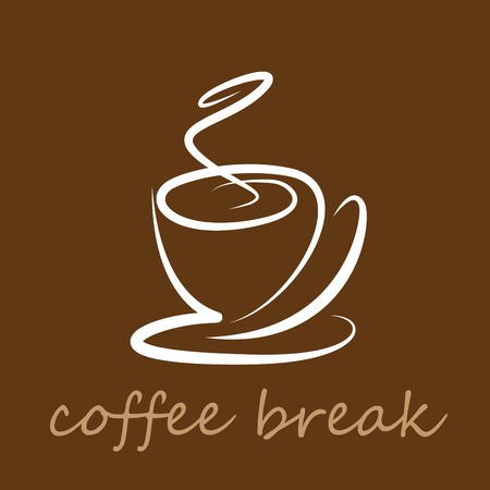 break: Vector sign coffee break