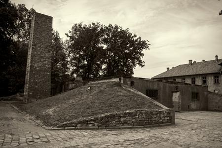 crematorium: Crematorium and gas chamber in Auschwitz, the biggest nazi concentration camp in Europe