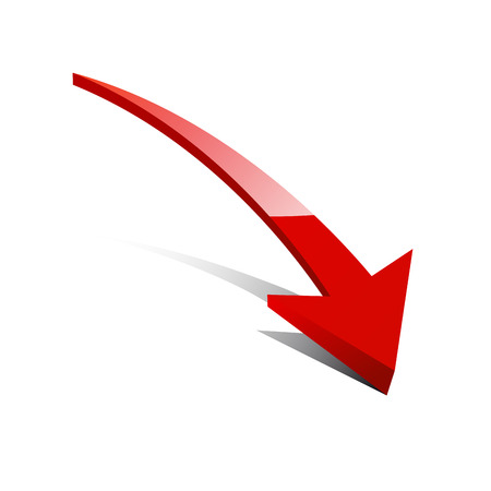 Vector glossy arrow Ilustrace