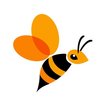 queen bee: Vector firmar abeja Vectores