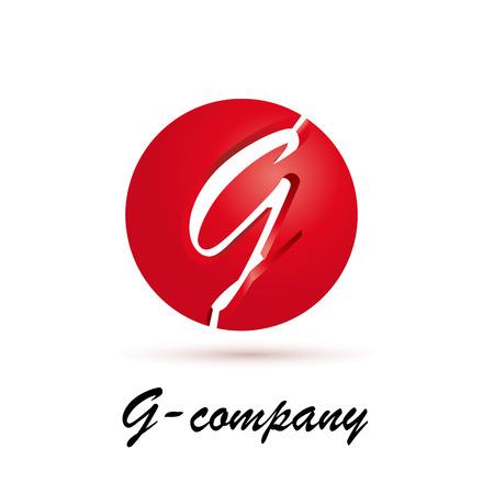 Vector sign spherical initial letter G 3d