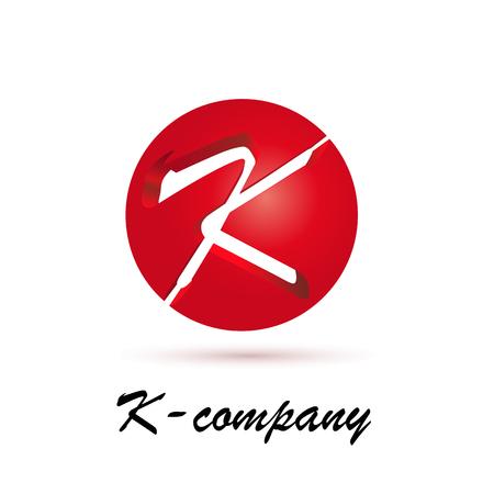 spherical: Vector sign spherical initial letter K 3d Illustration