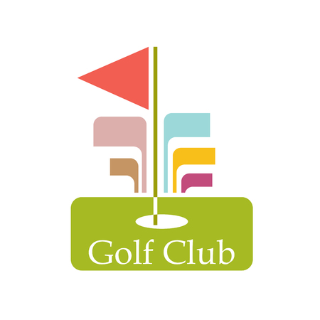 golf hole: Vector sign abstract Golf Club Illustration