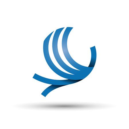 voyage: Vector abstract logo des oiseaux en vol